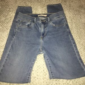 Levi Skinny Blue Jeans
